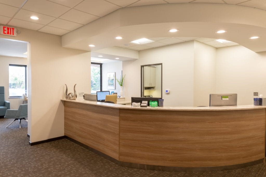 Office reception - Laurich Dentistry - Canton - Farmington Hills - Livonia