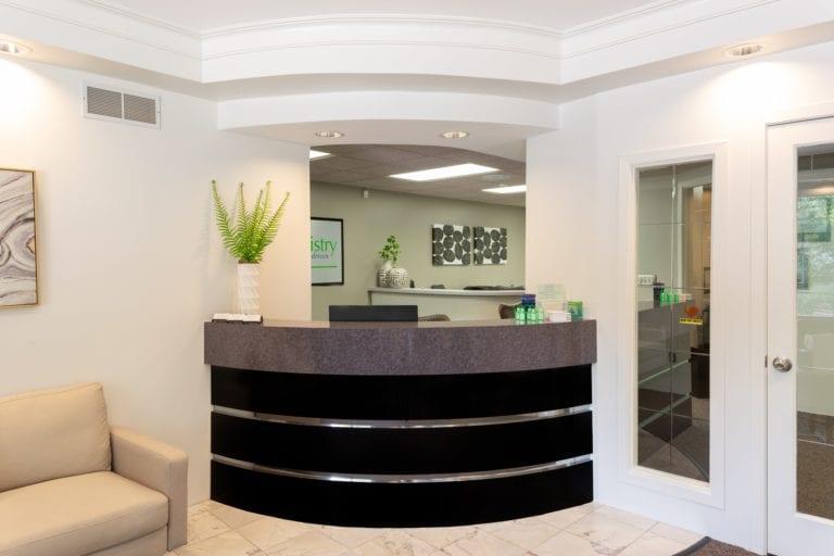 Front desk - Laurich Dentistry - Canton - Farmington Hills - Livonia